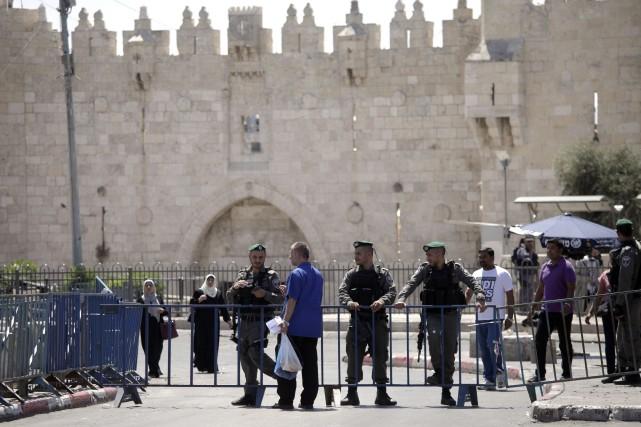 La vieille ville de Jérusalem était sous contrôle... (Photo Mahmoud Illean, AP)