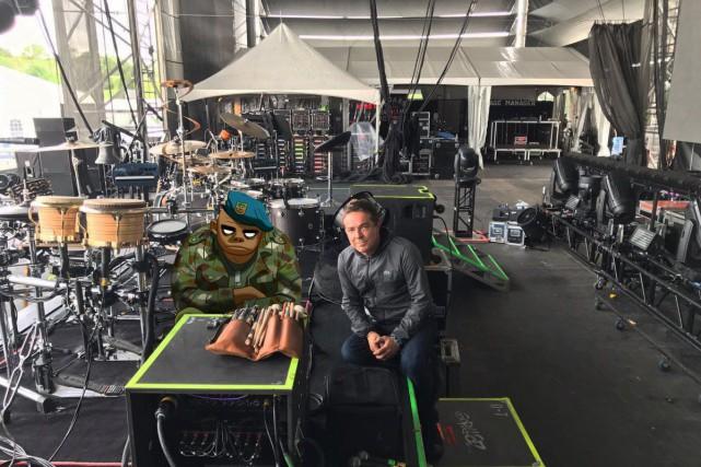Gorillaz est maintenant à Québec. La formation anglaise a publié une photo qui... (Tirée de Twitter)