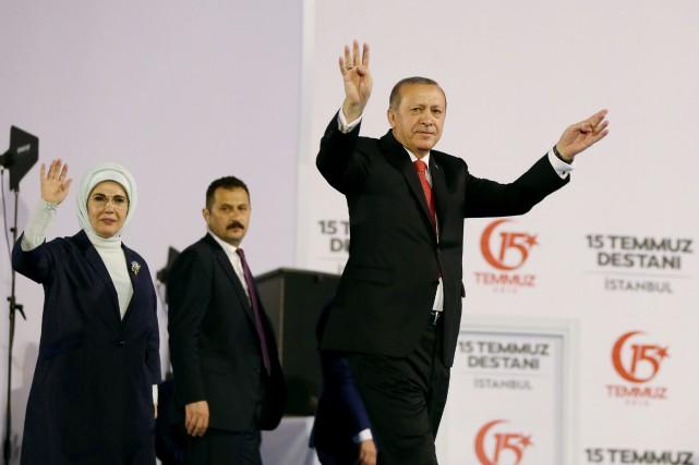 Le président turc Recep Tayyip Erdogan... (PHOTO AFP/GOUVERNEMENT TURC)