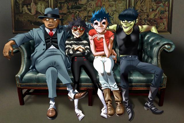 Russel, Noodle, 2D et Murdoch de Gorillaz... (Image fournie par Gorillaz)