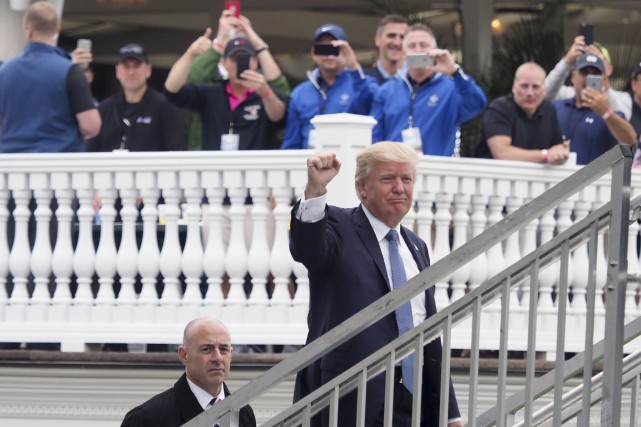 Le président américain, Donald Trump... (Photo Kelvin Kuo, USA TODAY Sports)