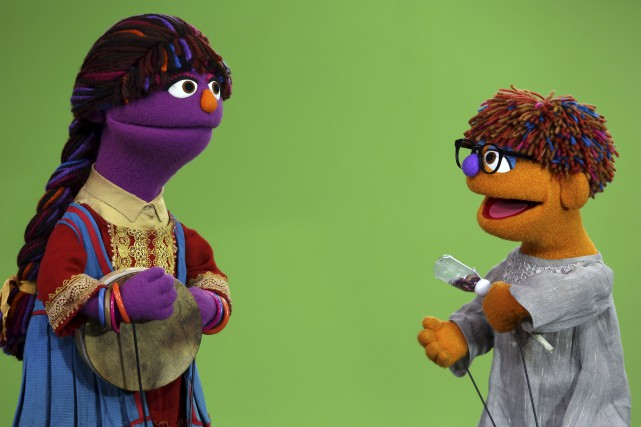 Zari et Zeerak, personnages de la version afghane... (AP, Rahmat Gul)