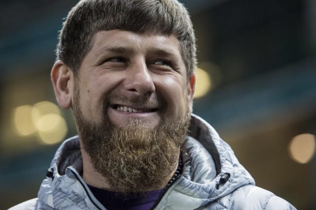 Le président Ramzan Kadyrov fait l'objet de vives... (Archives AP, Denis Tyrin)