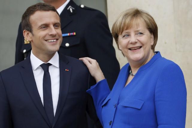 Malgré l'apparent dynamisme retrouvé de la relation franco-allemande,... (AFP, Patrick Kovarik)
