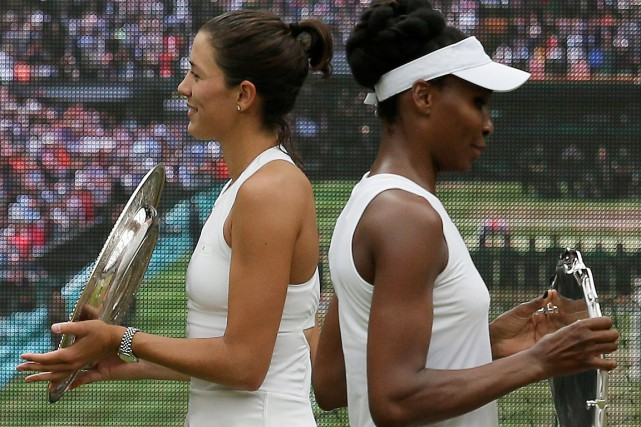 Garbine Muguruza a défait Venus Williams en finale... (PHOTO TIM IRELAND, ASSOCIATED PRESS)