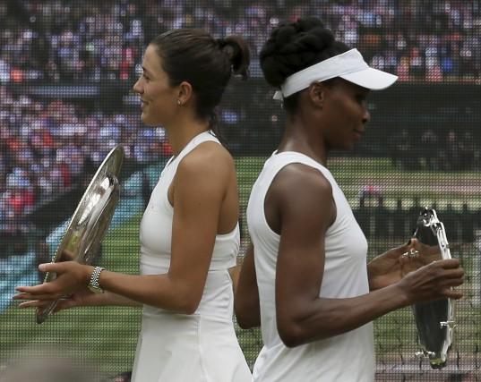 Avec cette première victoire à Wimbledon, Garbiñe Muguruza... (Agence France-Presse)