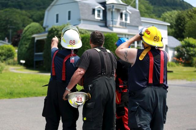 Le Service d'incendie de Saint-Paul-d'Abbotsford a fait appel... (Catherine Trudeau)
