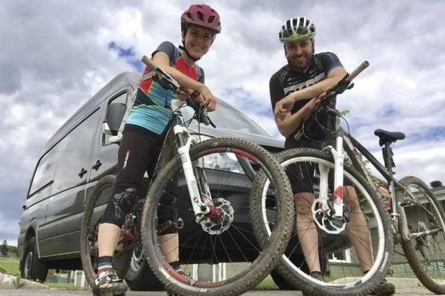 Mireille Roberge et son conjoint Samuel Richer ont... (Photo fournie)