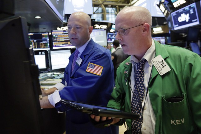 Selon les résultats définitifs, l'indice vedette Dow Jones... (PHOTO RICHARD DREW, ARCHIVES ASSOCIATED PRESS)
