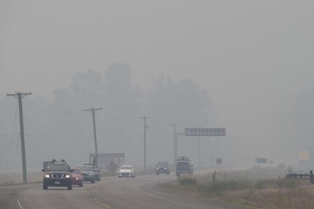 La mauvaise qualité de l'air en Colombie-Britannique est... (Photo Darryl Dyck, AP)