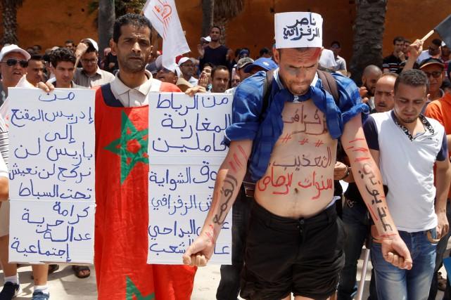 Les autorités marocaines ont interdit lundi une manifestation... (PHOTO REUTERS)
