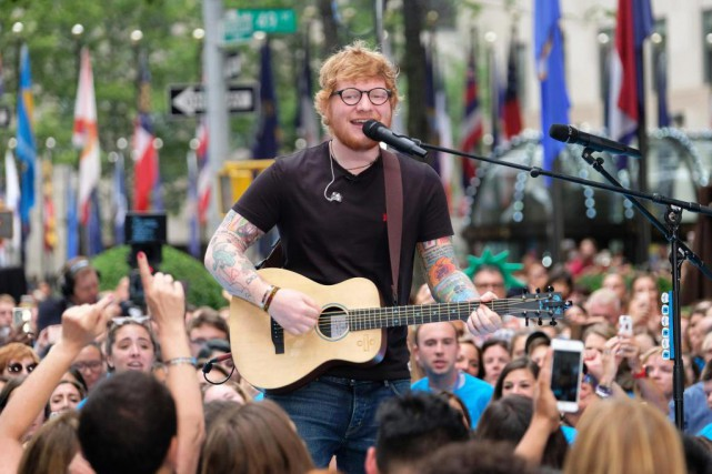Le chanteur Ed Sheeran a donné une prestation lors... (PHOTO CHARLES SYKES, ARCHIVES INVISION/ASSOCIATED PRESS)