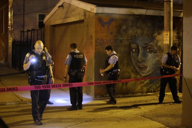 La criminalité à Chicago fait couler beaucoup d'encre... (PHOTO AFP)