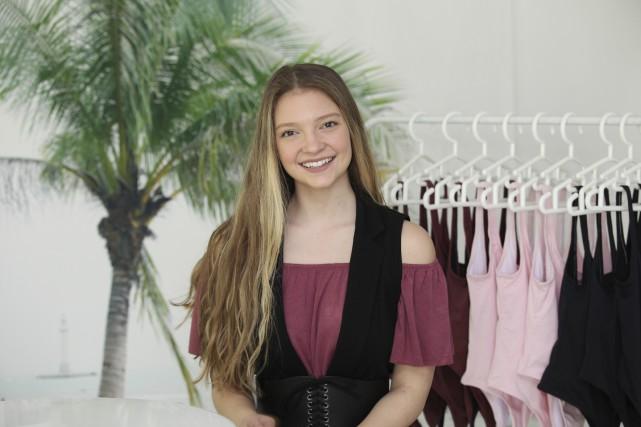 La jeune Émilie-Rose, 18 ans, lançait le 24... (Guy Couture)