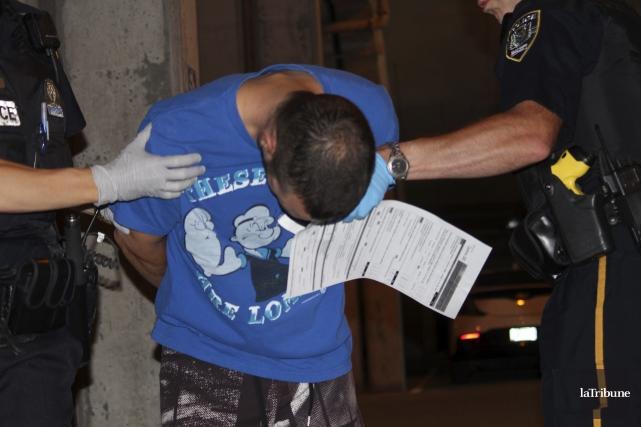 Donald Gaudette lors de son arrestation.... (La Tribune, René-Charles Quirion)
