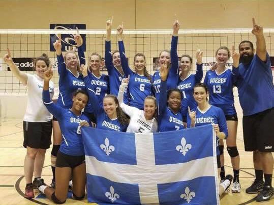 L'équipe de volleyball féminin du Québec, dans laquelle... (Courtoisie)