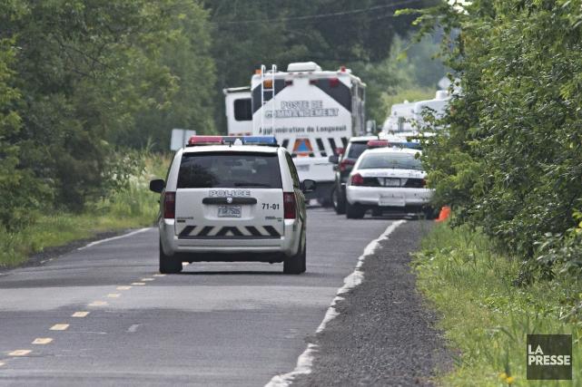 Les cadavres de deux hommes ont été retrouvés... (photo PATRICK SANFAÇON, LA PRESSE)