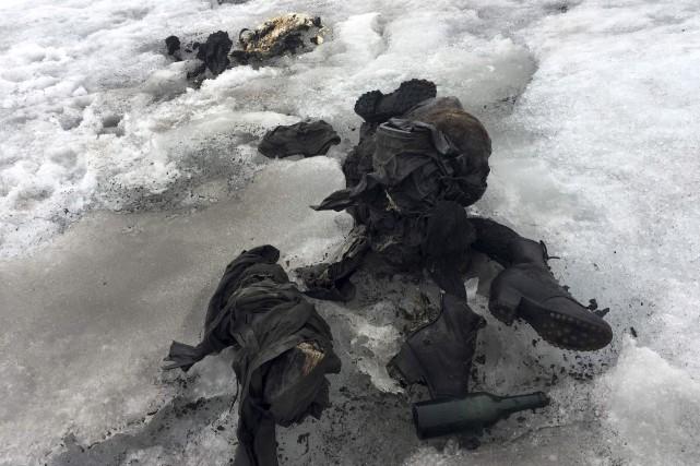 Les corps parfaitement conservés gisaient proches l'un de... (AFP)