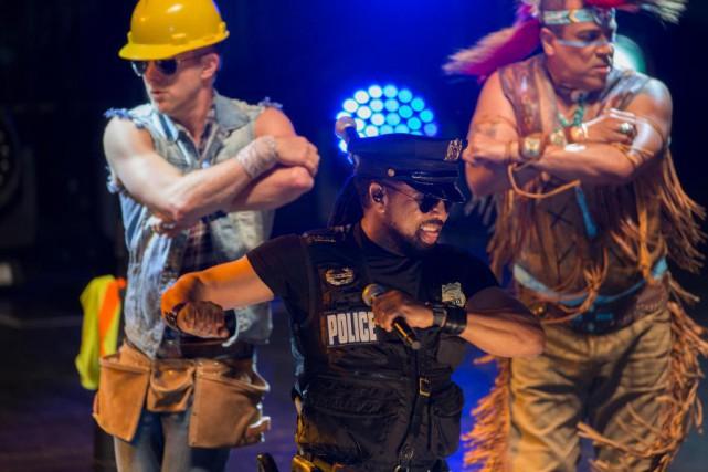 Le groupe Village People a donné un grand... (Photo Olivier Jean, La Presse)