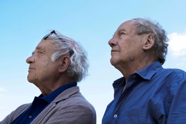 Le scénaristePierre Christin et le dessinateurJean-Claude Mezieres lors... (AFP)