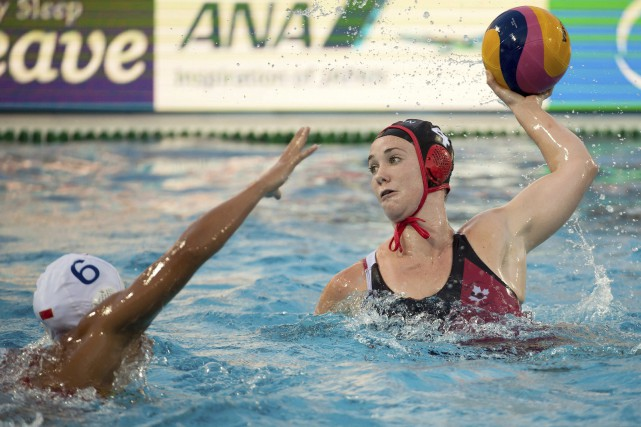 Emma Wright du Canada lors du match contre... (PHOTO AP)