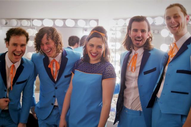 L'orchestre Les Requins est formé des quatre membres... (fournie)