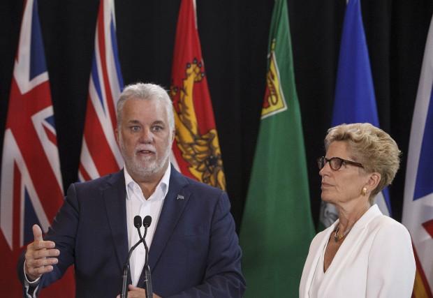 Le premier ministre du Québec, Philippe Couillard, a... (La Presse canadienne, Jason Franson)