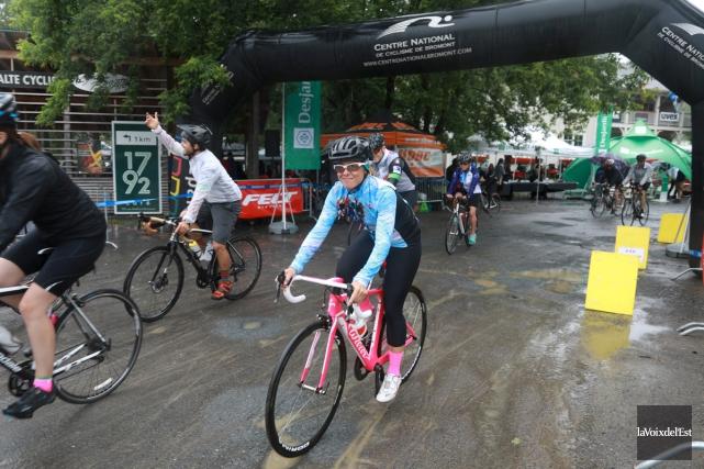 La porte-parole du Défi Vélo de Bromont, Katy... (Catherine Trudeau, La Voix de l'Est)