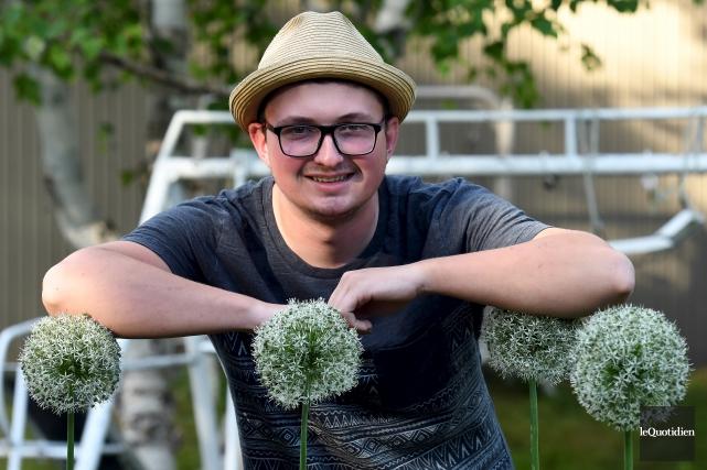 Alexandre Fortin, 21 ans, est passionné par le... (Photo Le Quotidien, Rocket Lavoie)
