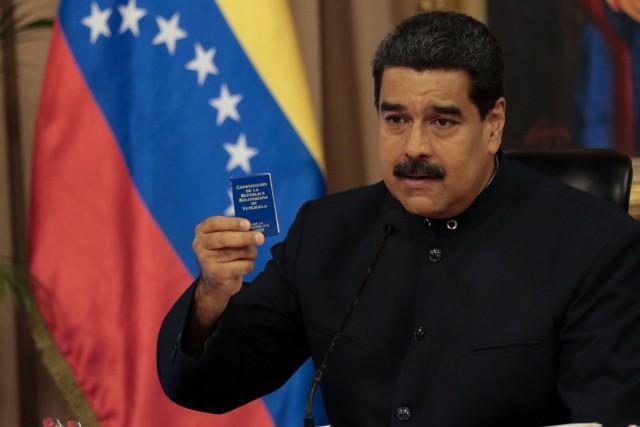 Le président du Venezuela Nicolas Maduro a été... (PHOTO REUTERS)