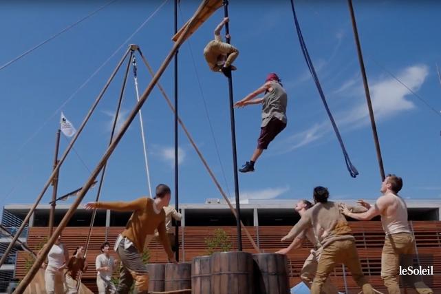 Le spectacle Mâts et cordages est présenté du... (Image tirée d'une vidéo Le Soleil)