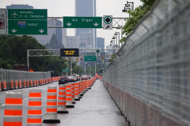 La construction de nouveaux murets de sécurité pour... (PHOTO HUGO-SÉBASTIEN AUBERT, LA PRESSE)