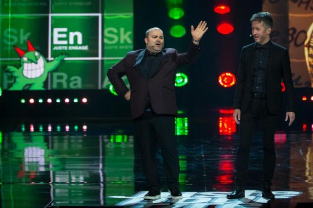 Les animateurs du gala Juste engagé:Laurent Paquin etJean-Luc... (PHOTO OLIVIER JEAN, LA PRESSE)