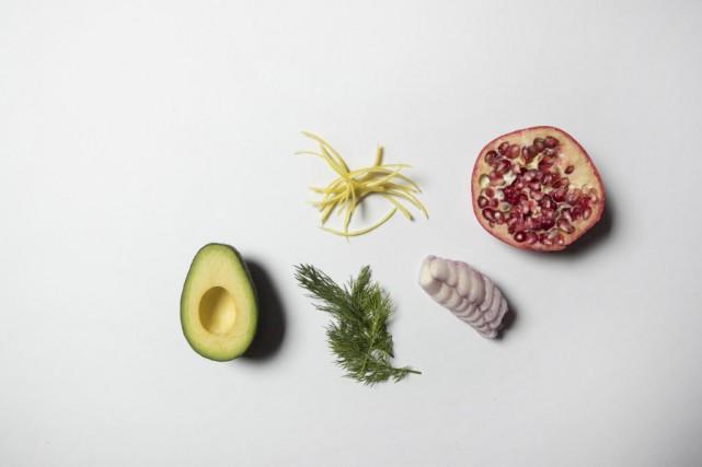 Avocat, aneth, zestes de citrons, échalotte française et... (Photo Ivanoh Demers, La Presse)