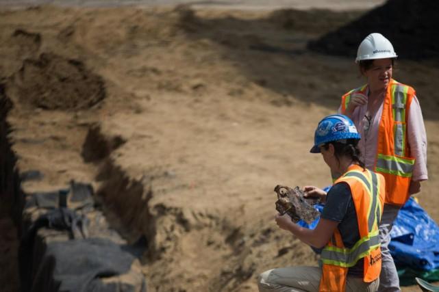 Le musée Pointe-à-Callière effectue actuellement des fouilles archéologiques... (PhotoIVANOH DEMERS, LA PRESSE)