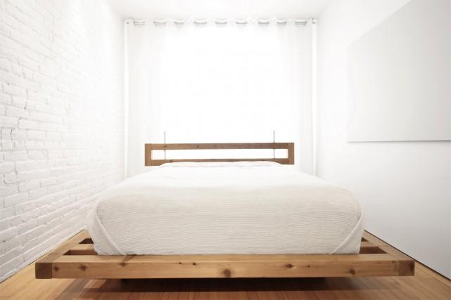 Dans la chambre, la base de lit élargie... (Photo fournie par L'Empreinte Design Architecture)