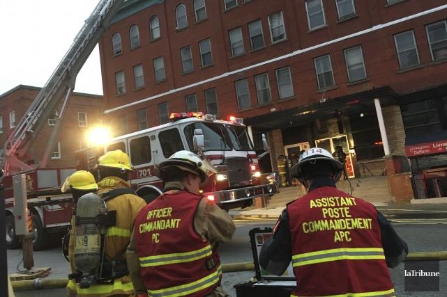 L'incendie sur la rue Dufferin a eu lieu... (Archives, La Tribune)