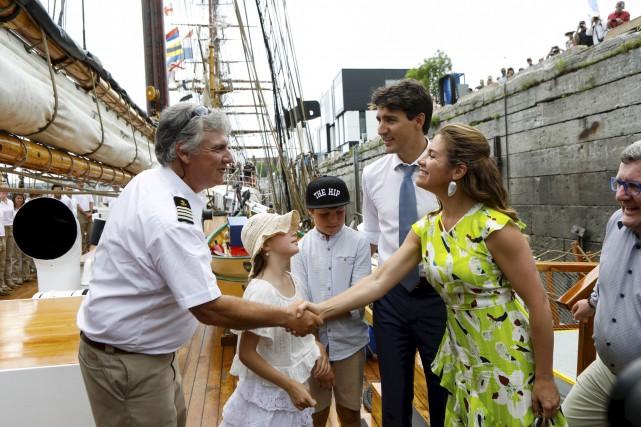 Justin Trudeau et Sophie Grégoire sont montés à...