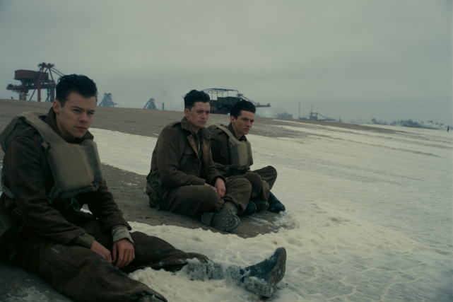 Une scène du film Dunkerque...