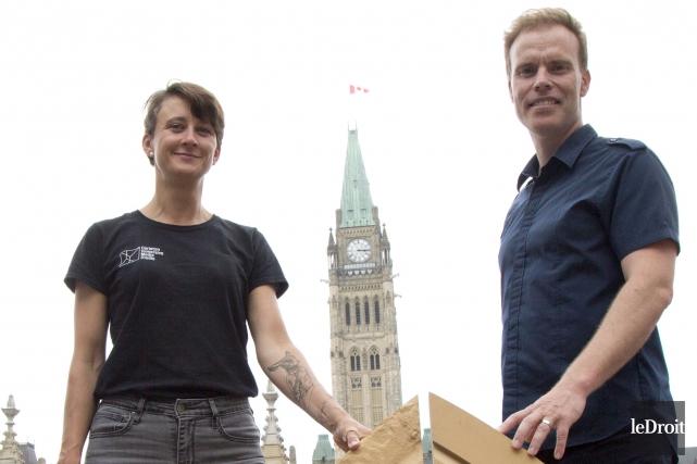 James Hayes et Marie-Ève Lavigne du Carleton Immersive... (Simon Séguin-Bertrand, Le Droit)