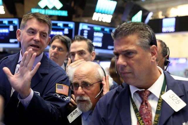Sur Wall Street, la moyenne Dow Jones des... (PHOTO ARCHIVES REUTERS)