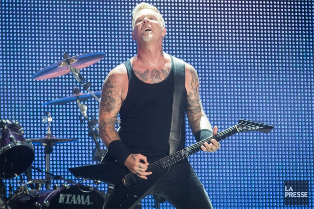 James Hetfield et son groupe Metallica ont donné... (PHOTO OLIVIER PONTBRIAND, LA PRESSE)