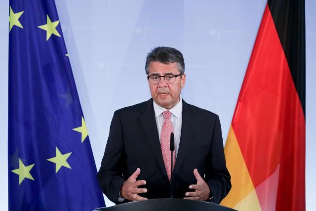 À Berlin, le chef de la diplomatie Sigmar... (AFP)