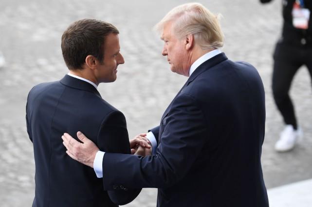 M. Macron «est un super gars. Intelligent, fort.... (AFP)