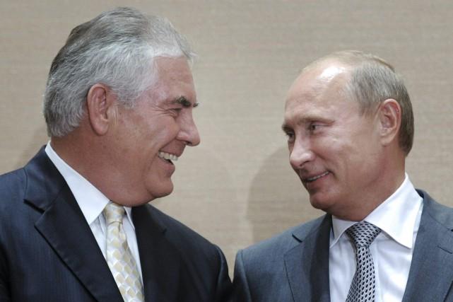 Rex Tillerson,actuel secrétaire d'État des États-Unis, a dirigé... (PHOTO AP)