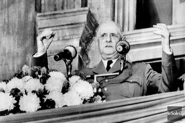 Le 24 juillet 1967, le président français Charles... (Photothèque Le Soleil)