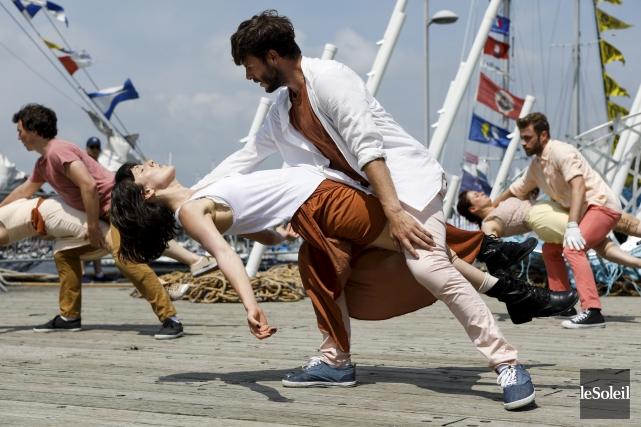 Pendant Rendez-vous 2017, les danseurs de Danse K... (Le Soleil, Caroline Grégoire)