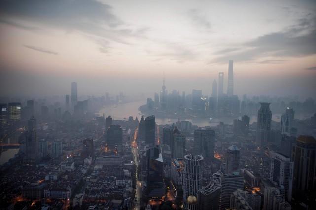 Shanghai a été placée en «alerte rouge» pour... (PHOTO FRED DUFOUR, ARCHIVES AFP)