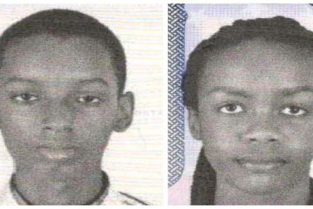 Les Burundais Don Ingabire, 16 ans, et Audrey Mwamikazi,... (Photo Reuters/Metropolitan Police Department)