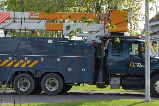 Encore 250 abonnés d'Hydro-Québec, sans courant électrique vendredi matin,... (Photo courtoisie)